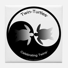 Twin Yin Yang Tile Coaster