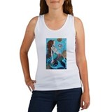 Mermaid skeleton Women's Tank Tops