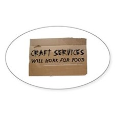 Craft Services Oval Decal
