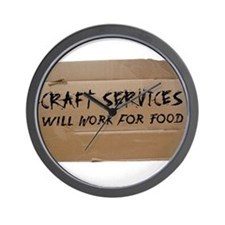 Craft Services Wall Clock
