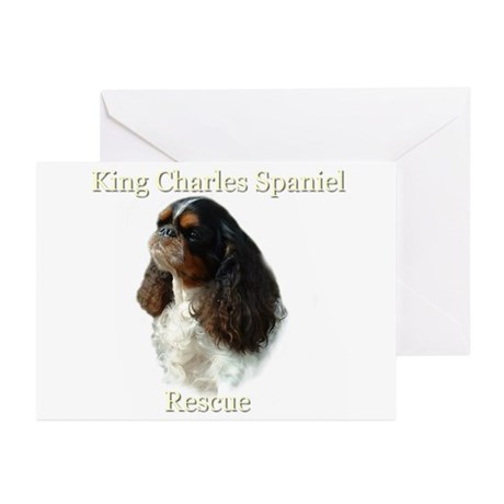 King Charles rescue Greeting Cards (Pk of 10)