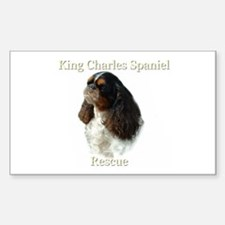 King Charles rescue Rectangle Decal