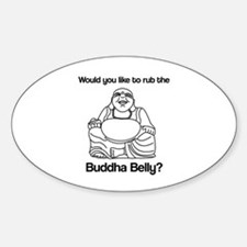 Buddha Belly Oval Decal