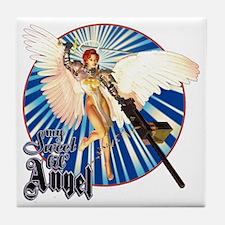 My Sweet Lil' Angel Tile Coaster