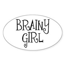 Brainy Girl Oval Decal
