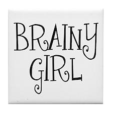 Brainy Girl Tile Coaster