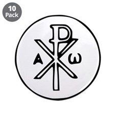"""Chi Rho 3.5"""" Button (10 pack)"""