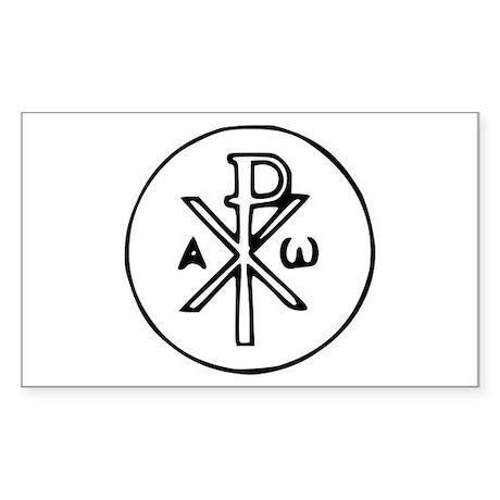 Chi Rho Rectangle Sticker