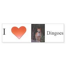 """I Love Dingoes"" Bumper Bumper Sticker"