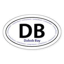 DB Dabob Bay Lindsay Beach Oval Decal