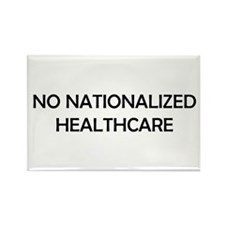 No Nationalized Healthcare Rectangle Magnet