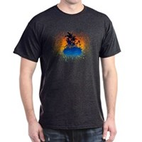 Paradise Graffiti Island Dark T-Shirt