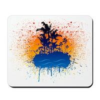 Paradise Graffiti Island Mousepad