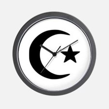 Crescent - Star Wall Clock
