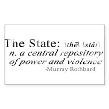 Definition of The State by Rothbard Decal