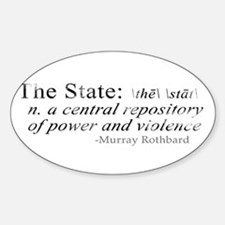 Definition of The State by Rothbard Oval Decal
