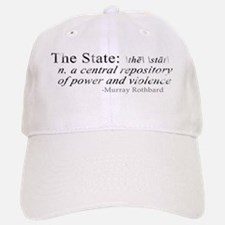 Definition of The State by Rothbard Baseball Baseball Cap