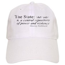 Definition of The State by Rothbard Baseball Cap