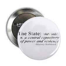 "Definition of The State by Rothbard 2.25"" Button"