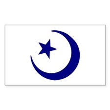 Crescent - Star Rectangle Decal