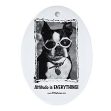 Attitude is Everything Oval Ornament