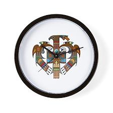Native American Hawk Symbol Wall Clock