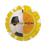 Soccer mom flower Round Ornaments