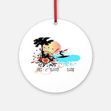 Eat Sleep Surf Ornament (Round)