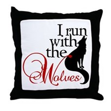 I run with the wolves New Moon Throw Pillow