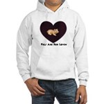 PIGS ARE FOR LOVIN (HEART) Hooded Sweatshirt