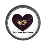 PIGS ARE FOR LOVIN (HEART) Wall Clock