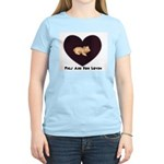 PIGS ARE FOR LOVIN (HEART) Women's Pink T-Shirt