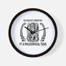 PHILOSOPHY Wall Clock