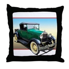 The A Roadster Throw Pillow
