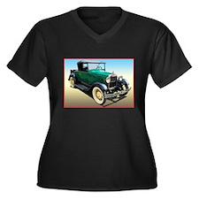 Ford model a Women's Plus Size V-Neck Dark T-Shirt