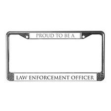 Proud Law Enforcement Officer License Plate Frame