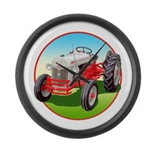 Unique Ford tractor 8n Large Wall Clock