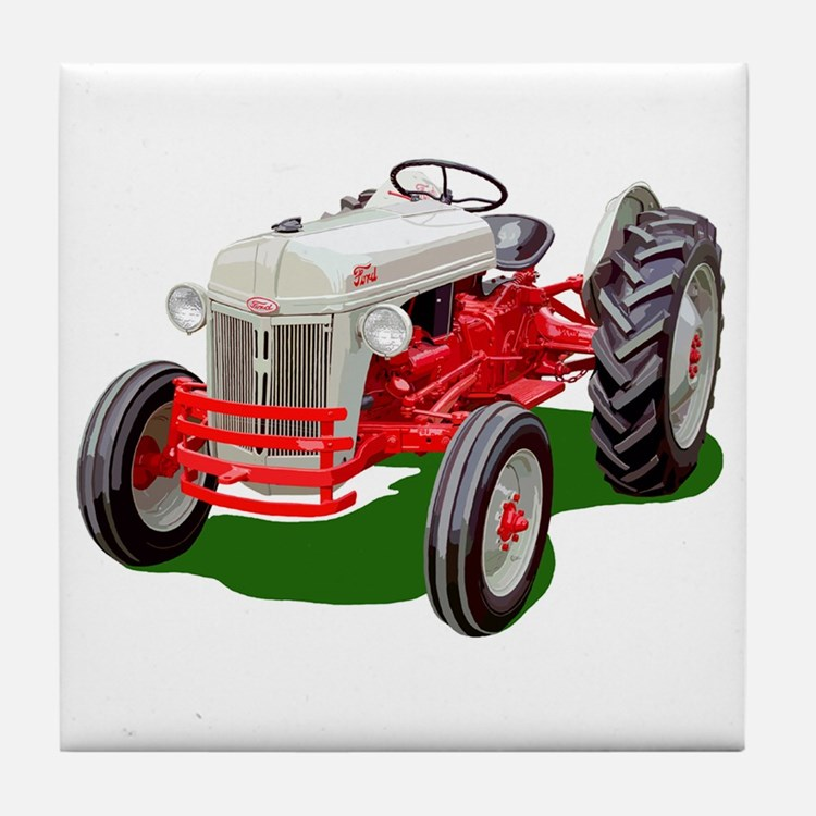 Cute Tractor pulls Tile Coaster