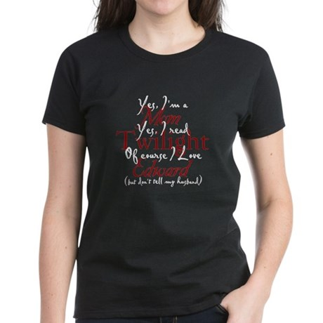 Edward Loving Twilight Mom Women's Dark T-Shirt