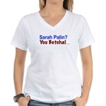 Reduce your government footprint Women's V-Neck T-