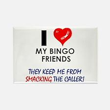 I love my Bingo Friends Rectangle Magnet
