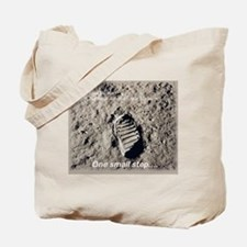 Apollo 11 Bootprint Tote Bag
