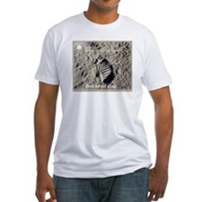Apollo 11 Bootprint Fitted T-Shirt
