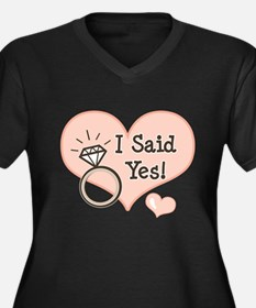 I Said Yes Bride To Be Women's Plus Size V-Neck Da