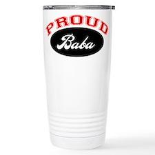 Proud Baba (red and black) Travel Mug