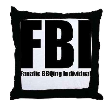 Fanatic BBQing Individual Throw Pillow