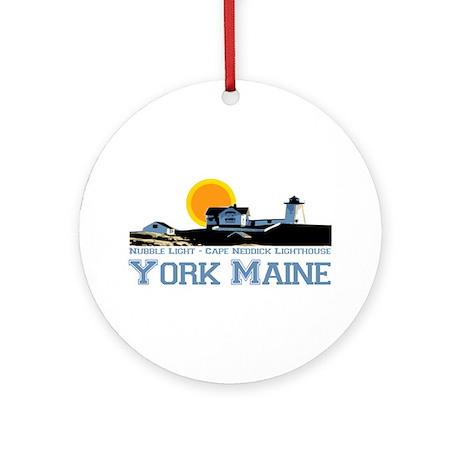 York, Maine Ornament (Round) by ishore