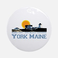York, Maine Ornament (Round)