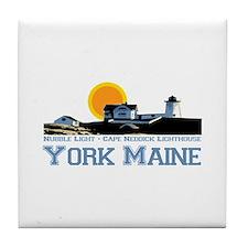 York, Maine Tile Coaster