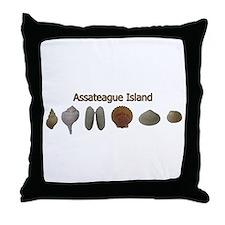 Assateague Sea Shells Throw Pillow